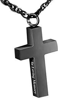 Cremation Jewelry Cross Urn Necklace Pendant Memorial Ash Jewelry for mom & dad