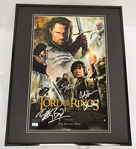 Lord of the Rings Return of the King Cast Signed Framed 16x20 Poster Display AW