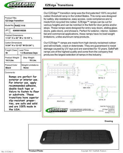 SafePath Products RAEZ1110 EZEdge 1 1/4