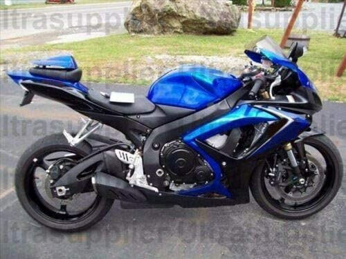 Gloss Black Cheap w Blue Motorcycle 5 ☆ very popular Comp Injection Molding Kit Fairing