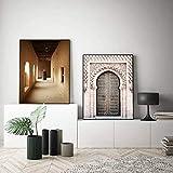 Marokko Tor Vintage Poster Weltberühmte Architektur Kunst