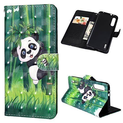 Vogu'SaNa Kompatible für Handyhülle Xiaomi Mi A3/Mi CC9e Hülle Wallet Flip Hülle Cover PU Leder Tasche 3D Malen Muster Schutzhülle Handytasche Skin Ständer Klapphülle Schale Bumper Etui-Panda