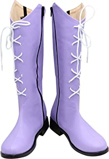 Whirl Cosplay Boots Shoes for Sailor Moon Sailor Saturn Purple