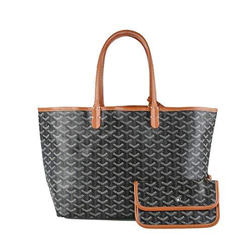 Stylesty Fashion - Bolso de mano de piel sintética con llavero, diseño de bolso, Marrón (Marrón), Medium