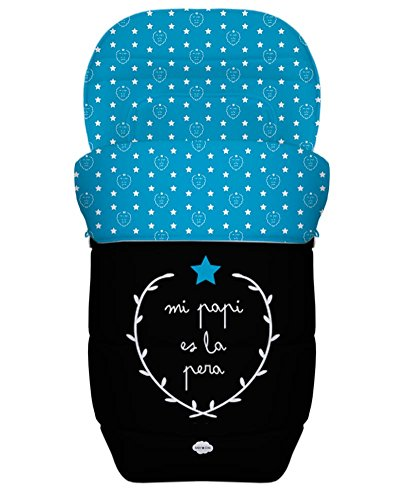BABY STAR Saco Silla Paseo Universal Reversible (Mi Papi es la Pera)