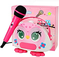 Karaoke Bluetooth Machine for Kids with Microphone Karaoke Wireless Singing Portable Player Speaker for Home Outdoor Travel Activities Party Christmas Birthday Festival Gift for Girls Boys Children