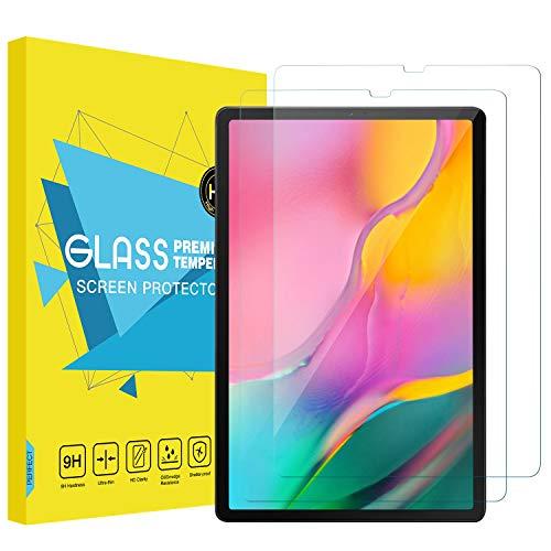 MoKo [2 Stück Folie - HD 9H Panzerglas Bildschirmschutzfolie Glas Bildschirmschutz Glasfolie Screen Protector Kompatibel mit Samsung Galaxy Tab A T510/T515 10.1 Tablet - Transparent