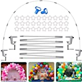 Fuzaws Table Balloon Arch Stand Kit, 13Ft Adjustable Reusable Table balloon arch kit with base High Strength Glass Fiber Pole for DIY Party Wedding Birthday Baby Shower Xmas Festival Merry Christmas Decorations