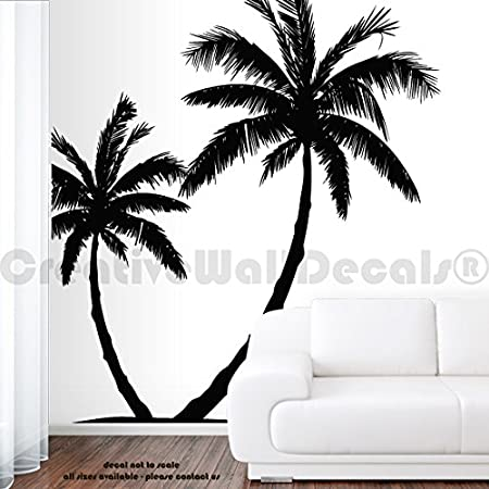 Forêt tropicale Palm Tree Wall Art Autocollant Chambre Salon HOME DECAL
