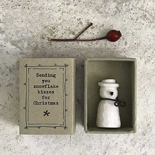 East of India Snowman Snowflake Kisses Matchbox