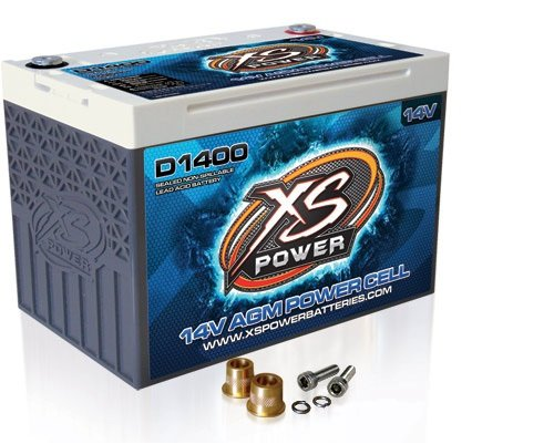 XS Power D1400 14V 2,400 Amp AGM Battery with Terminal