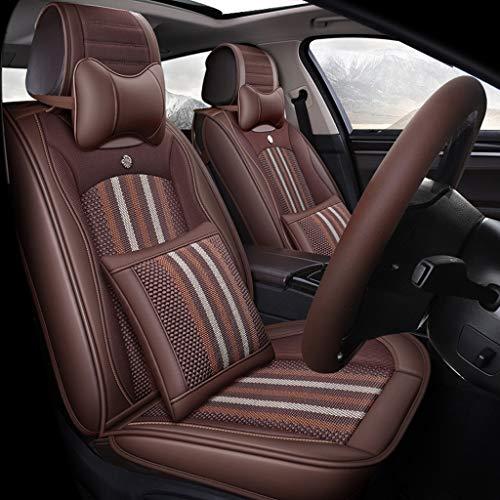 GSHWJS stoelbekleding Quattro Stagioni met kussen voor en achter 5 compleet met textiel universele stoelbekleding voor auto