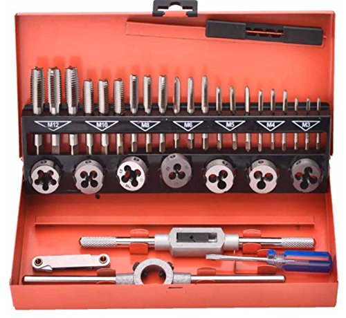 HARDEN Hand tap and Dies Set 32 pcs, Metric, M3-M12 3 Stage Tapping (HAR 61453)