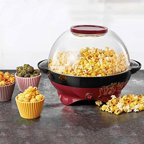 5 Liter Popcornautomat Popcornmaschine für Zuhause Popcorn Abnehmbare Sandstrahlplatte mit Antihaftbeschichtung Leicht zu Reinigen.