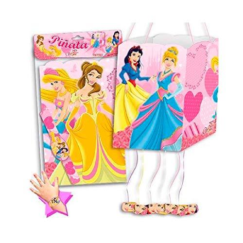 Piñata Princesas para cumpleaños y Fiestas Infantiles. Incluye una Pulsera a Juego