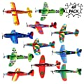 THE TWIDDLERS Paper Toy Planes 48 Pcs - Flying Foam Airplane Glider Kit in 12 Assorted Designs | Kids Birthday Party Supply | Goodie Bag Fillers | Indoor Outdoor Fun Activity Play Entertainment from The Twiddlers
