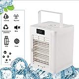 Mobile Klimageräte LuftküHler Tragbar mit 3 Geschwindigkeits 10W Air Conditioner,Er KüHlt,Befeuchtigt Die Luft,Nachtlicht,mit 7-Farben LED,Leise,für Zuhause,BüRo,Weiß