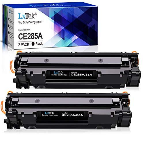LxTek Kompatibel Toner Ersatz für HP CE285A 85A für HP Laserjet Pro P1102W P1102 M1132MFP M1217NFW M1212NF M1132 P1100 M1136 M1210 M1212 (2 Schwarz)