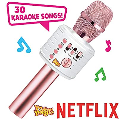 Motown Magic Bluetooth Karaoke Microphone, Pink, for Girls, for 4 5 6 7 8 Year Old Girls