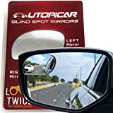 Blind Spot Mirrors Unique design Car Door mirrors | Mirror for blind side engineered by Utopicar for larger image and traffic safety. Awesome rear view! [frameless design] (2 pack)