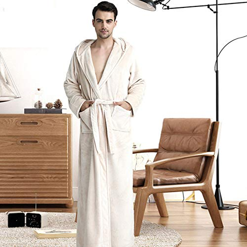 DPKDBN damesbadjas, Lovers Plus size flanel robe met capuchon extra lange warme badjas mannen vrouwen dikke winter kimono badjas mannelijke badjas