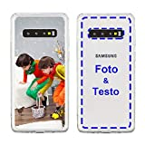 MXCUSTOM Cover Personalizzata per Samsung Galaxy S10+ / S10 Plus, Custodia Personalizzate con Foto Immagine Testo Design Crea Le Tue [Paraurti morbido trasparente+Piastra posteriore rigida](CHT-CR-P1)