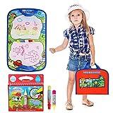 Wasser Zeichnung Matte Malmatte mit zauberstiften, BBLIKE 1 Farbton-Bücher tragbar mit 2 malmatte mit magic wasserstift verwendbar 3+ Jahre alte Kleinkinder
