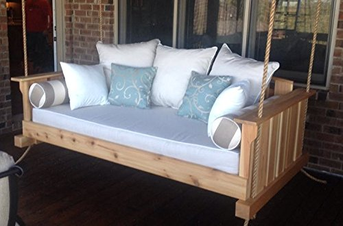 Porch Swing: The 'Daniel Island' Swing Bed (Bedswing) (Bare Cedar)
