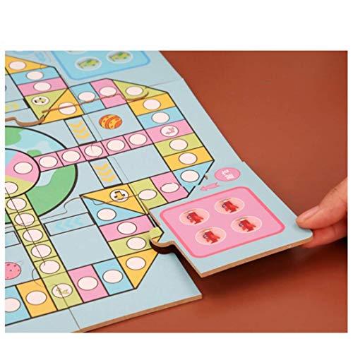 Schaken Dammen en Backgammon Multifunctionele Children's Puzzle Bordspel Chess 3 in 1 Flying Chess Set Met Raadsel Schaakbord twee kanten van het schaakbord zhihao