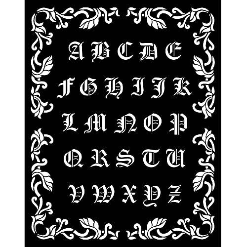 Stamperia International Thick Stencil-Sleeping Beauty Alphabet Plantilla Gruesa – Alfabeto de la Bella Durmi, Varios, 20 x 25 cm