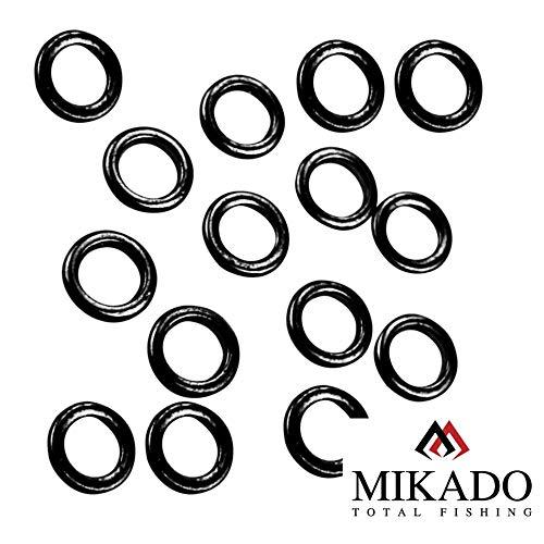 Mikado 25 x Round Rig Rings Vorfachringe schwarz matt in Ø3,1mm und Ø3,7mm erhältlich (Ø 3,7mm)