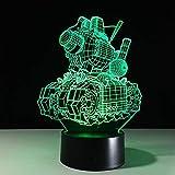 Kreative Valentinstag Geschenke 3d Lampe Mini LED batteriebetriebene Acryl 3d Nachtlicht 7 Farben Wickeltischlampe