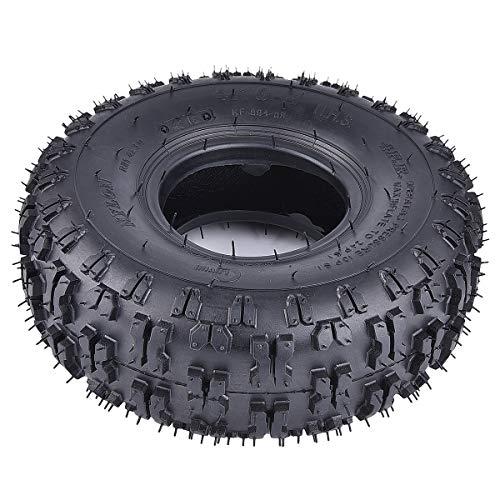 RUTU 2 Pack of 4.10-4 410-4 4.10/3.50-4 Tires Replacement for Garden Rototiller Snow Blower Mowers Hand Truck Wheelbarrow Go Cart Kid ATV
