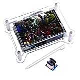 kuman TFT Touch Screen+case, 3.5 Inch TFT LCD Display Monitor with Protective Case Support All Raspberry Pi System, Video Movie Play, Arcade Game, HDMI Audio Input (3.5 in Raspberry pi Screen)