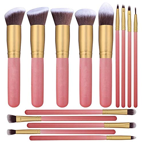 WBXZAL-Pinceau de maquillage 14 nez ombre pinceaux, brosses à cosmétiques faciaux, modifications, chérie des pinceaux, brosses à cils et cosmétiques,b