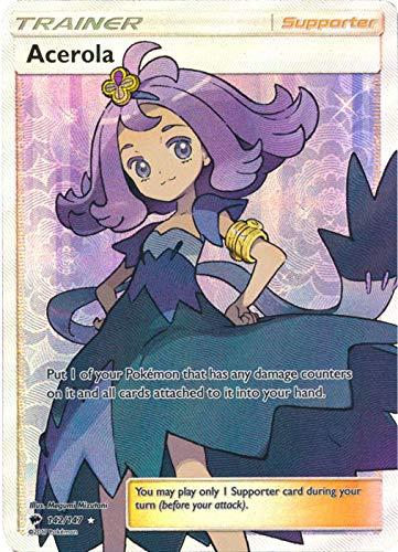 Pokemon Acerola - 142/147 - Full Art Ultra Rare - Sun & Moon: Burning Shadows