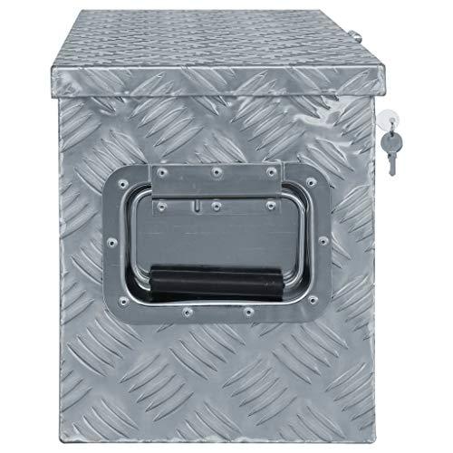 vidaXL Aluminiumkiste 61,5×26,5x30cm Alu Box Koffer Werkzeugbox Transportkiste - 2