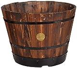 VegTrug wpb40046cm'Burnt Oak Holz Übertopf Barrel–Braun