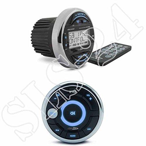 Caliber MRM640BT Marine Radio USB / AUX / BT MW / UKW-Tuner + MRC300 Marine kabelgestützte Fernbedienung wasserfest
