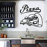 WERWN Calcomanías de Pared para Pizza, Comida Caliente, Restaurante Italiano, pizzería, Tienda Gourmet, decoración de Interiores, Logotipo, Puertas y Ventanas, Pegatinas de Vinilo, Papel Tapiz