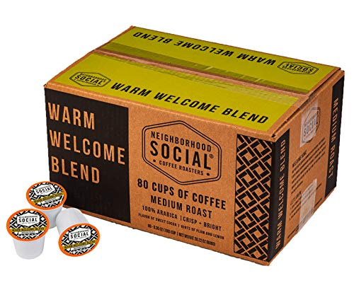 Neighborhood Social, Warm Welcome Blend Medium Roast Gourmet Coffee, 80 Count (Pack of 1)