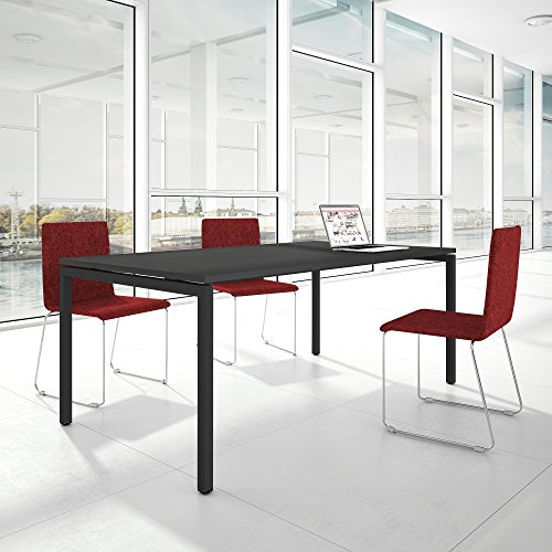 Weber Büro Profi Besprechungstisch 200x100cm NOVA U 4-8 Pers. Konferenztisch Meetingtisch, Gestellfarbe:Anthrazit