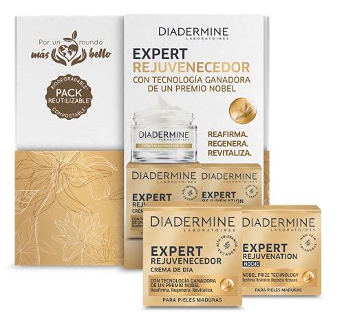 Diadermine - Cofre Compostable y Biodegradable Expert - Crema de día Expert 50ml + Crema de noche Expert 50ml - Para pieles maduras y exigentes