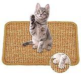 Faffooz Alfombra para Rascador Gato (40x60 cm) sisal Natural Resistente Antideslizante Cuidado De Las Patas del Gato Adecuado para Gatos Pequeños, Medianos y Grandes
