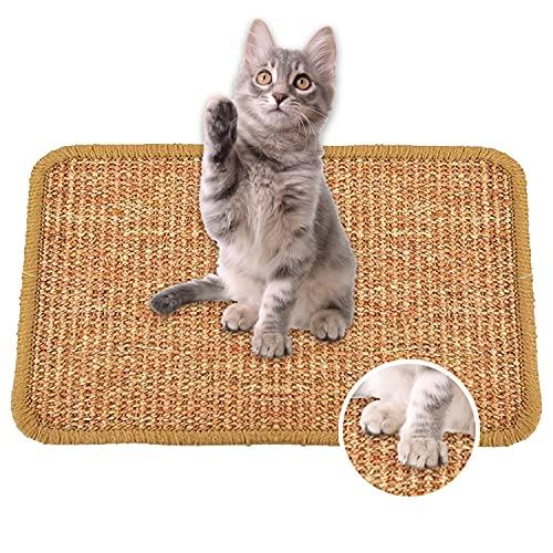 tiragraffi per gatti 40 Faffooz Tappetino tiragraffi per Gatti (40 * 60cm) Sisal Naturale Resistente e Antiscivolo Adatto a Gatti Piccoli Medi e Grandi Protegge Divani e Tappeti