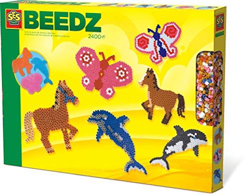 SES Creative - Cuentas para planchar de animales, multicolor (06127) , color/modelo surtido