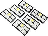 Set 6 Filtri Kombi Compatibile per iRobot Roomba 800 900 Serie Aspirapolvere, Filtri Hepa Robot Serie 800 900 Accessori Ricambio