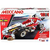 Meccano 10 MODELES-10 Modèles De Véhicules De Course A Construire-Jeu de Construction Avec 2 Outils-6060104-Jouet Enfant 8 Ans et +, 6060104, Multicolore