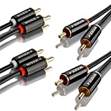 sebson 2x cavo audio rca 1m, 2 rca maschio a 2 rca maschio, rosso e bianco - connettori rca per impianti stereo, amplificatori, home cinema e sistemi hifi
