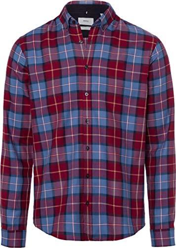 BRAX Herren Style Daniel Button Down Casual Sportiv Freizeithemd, RED, M